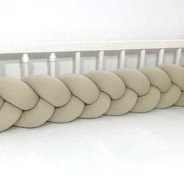 """tour de lit tresse à 3 brins 3m """"beige"""""""