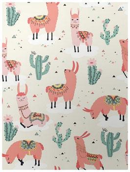 """poster """"lama-cactus"""""""