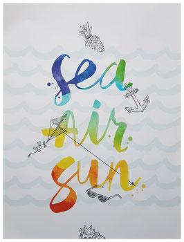 """poster """"sea-air-sun"""""""
