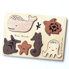 """puzzle bois """"animaux aquatique"""""""