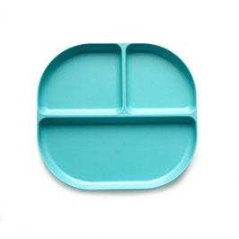"assiette à compartiments BIOBU ""turquoise"""