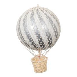 ballon montgolfière 20cm gris