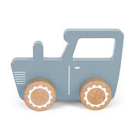 tracteur bois bleu