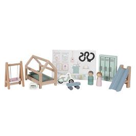 """accessoires bois pour maison de poupée """"salle de jeux"""""""