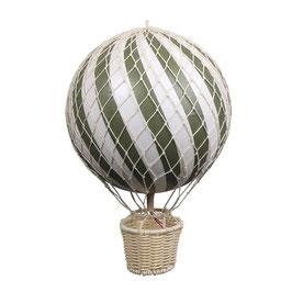 ballon montgolfière 20cm olive
