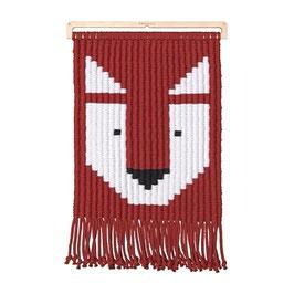 macramé pixels - FRANKIE le renard