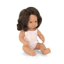 poupée *fille* cheveux brun