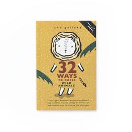 """livre d'activités 32 façons d'habiller """"les animaux sauvages"""""""