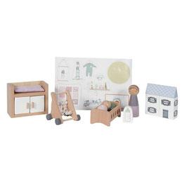 """accessoires bois pour maison de poupée """"chambre de bébé"""""""