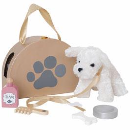 peluche chien avec accessoires