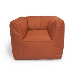 fauteuil pouf caramel