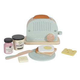 set grille-pain et accessoires en bois