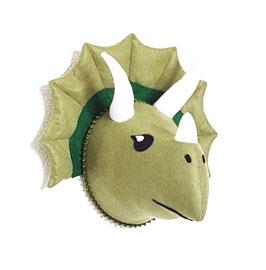 """trophée tissu dinosaure """"tricératops"""""""