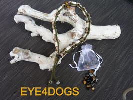 Geluksbandje (Anti tekenband gecombineerd met een Tijgeroog en een Bergkristal)