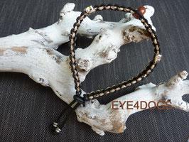 Halsband met edelsteen model Flox(extra dun paracord 2mm)