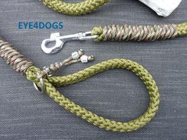 Hondenlijn  Military Green 12mm