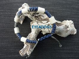 Armband Snake blauw/grijs met schuifsluiting