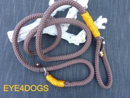 Hondensliplijn Brown 12mm