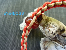 Halsband met edelsteen model Amor(extra dun paracord 2mm)