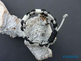 Armband Cobra zwart/grijs met schuifsluiting