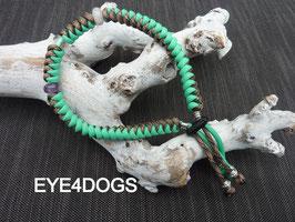 Halsband rondgedraaid  met een unieke combinatie van 3 edelstenen model Dream