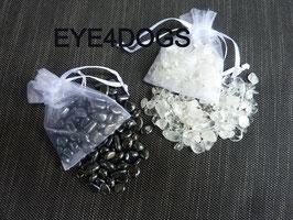 Reinigings/Oplaadset voor edelstenen bestaande uit Hematiet + Bergkristal