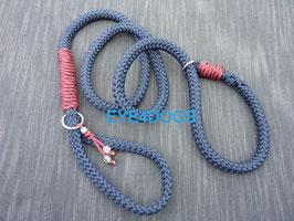Hondensliplijn Deep Sea Blue 12mm
