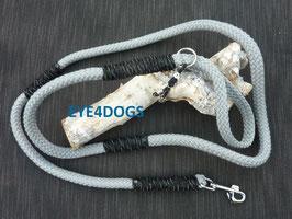 Hondenlijn Cement Grey met reflective cord 12mm