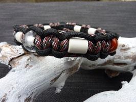 Combi-band April (Anti-tekenband gecombineerd met een edelsteen naar keuze en een bergkristal)