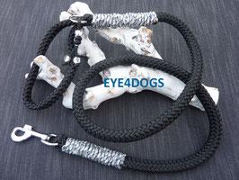 Hondenlijn  Black 12mm