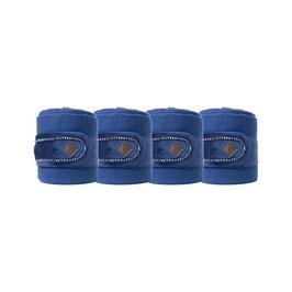 Marineblau - Velvet Pearls Fleecebandagen