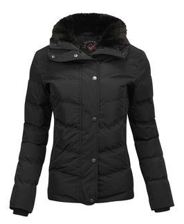 Schwarz Winter Short Coat