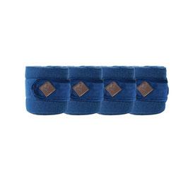Marineblau Fleecebandagen Basic Velvet