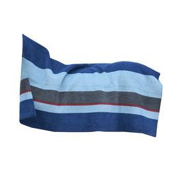 Square Stripes Navy/Grau - Heavy Fleece Rug