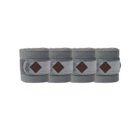 Grau Fleecebandagen Basic Velvet