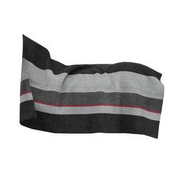 Square Stripes Schwarz/Grau - Heavy Fleece Rug