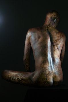 Old Copper Statue - werk 2