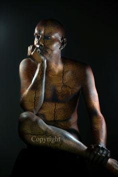 Old Copper Statue - werk 1