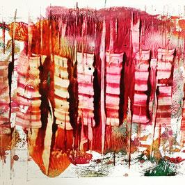 """"""" Une abeille contre la vitre """" , peinture sur papier glacé."""