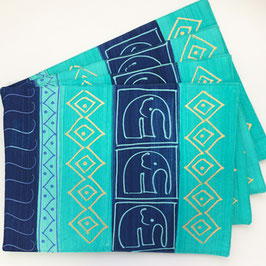 Placemat Elephant Turquoise