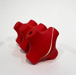 Porta bottiglie in ceramica - rosso
