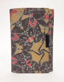 Notebook Organiser - Wren Design - Scarlet & Frost Moths
