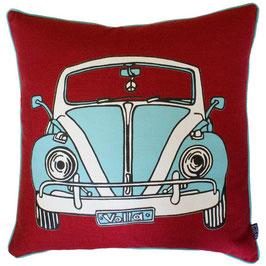 Cuscino Rosso con Macchina Vintage - DT Design