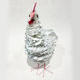 Plastic Chicken - Bianca con dettagli rosa
