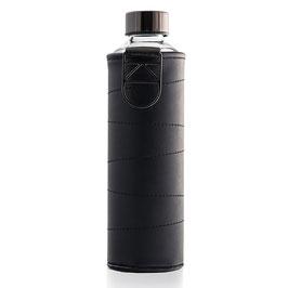 Bottiglia in vetro con copertura in ecopelle grafite