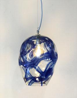 Lampada Media Blu, Filo Elettrico Azzurro - Ngwenya Glass