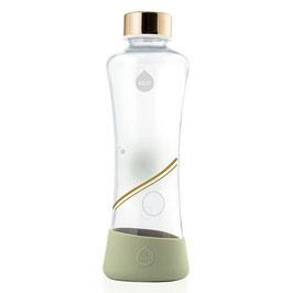 Bottiglia in vetro Oro con copertura bassa silicone