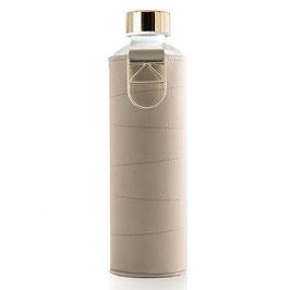 Bottiglia in vetro con copertura in ecopelle beige