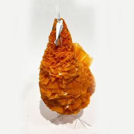 Plastic Chicken - Arancio con dettaglia Bianchi