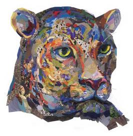 Testa di Leopardo - Formato A5 - Zoe Mafham
